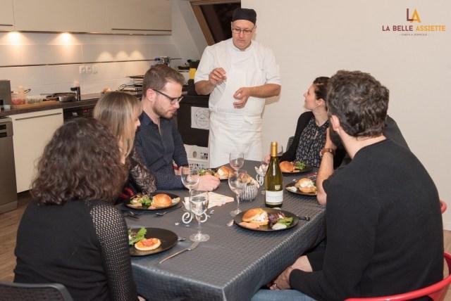 chef à domicile Strasbourg Alsace La Belle Assiette Vincent Glaess dîner de validation