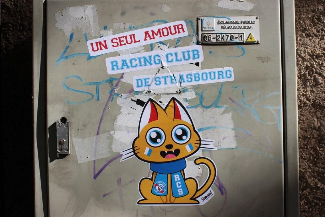Supacat streetart Strasbourg racing