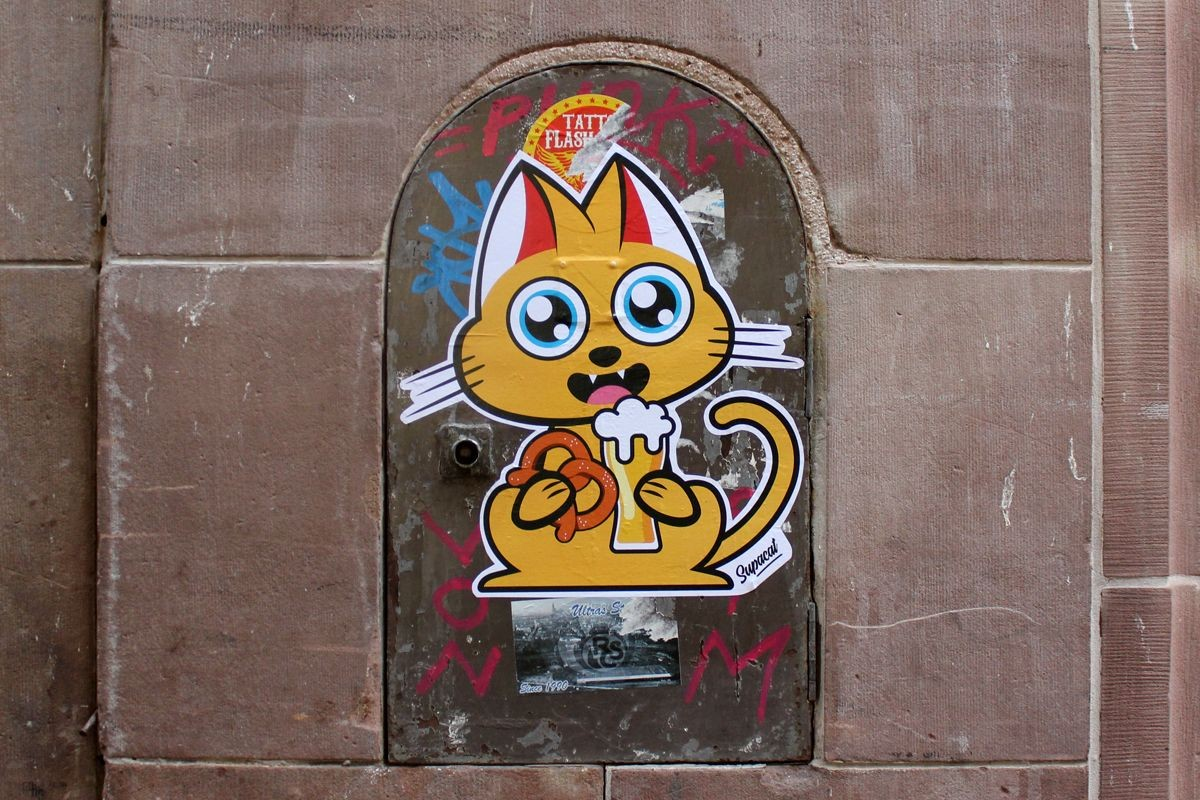 Interview de Supacat : collages streetart dans les rues de Strasbourg