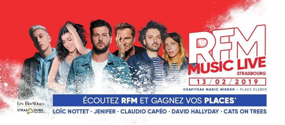 RFM MUSIC LIVE STRASBOURG 2019 affiche