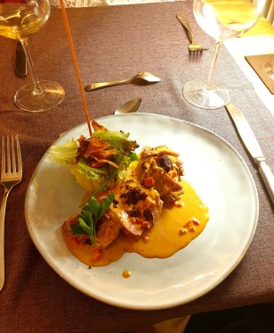 Le Kastelberg hôtel restaurant Andlau Alsace route des vins choses à faire repas du soir