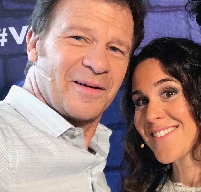 Antonia de Rendinger et Philippe Lelievre dans Vendredi tout est permis sur TF1