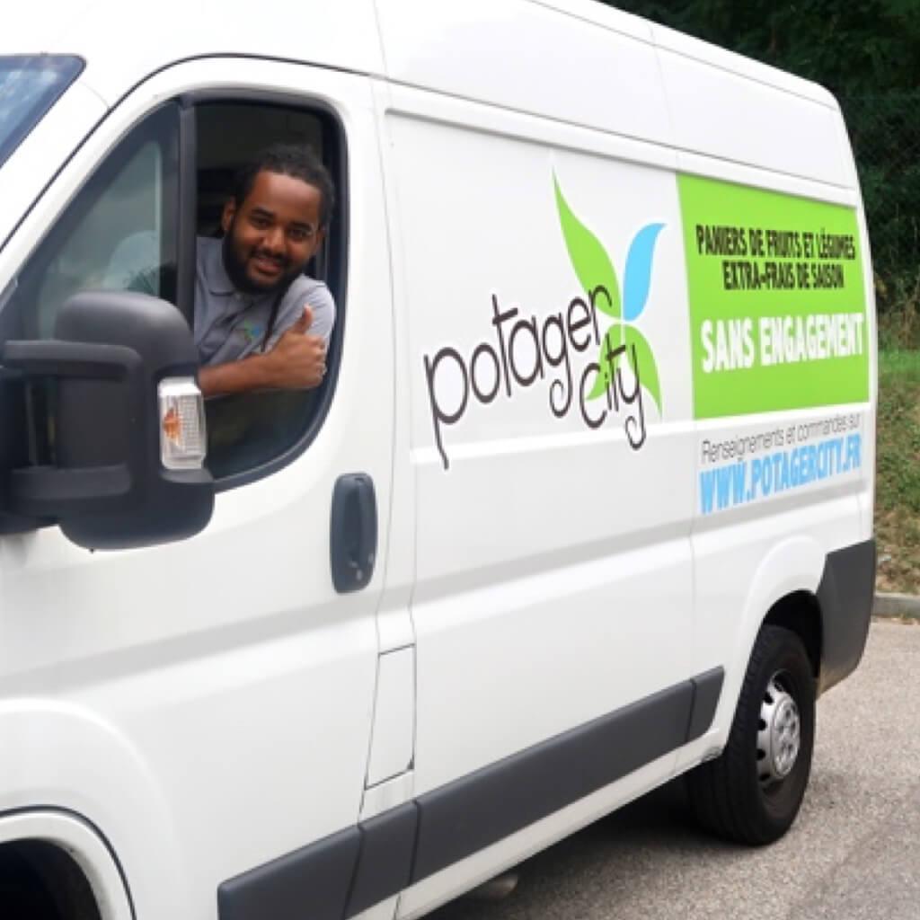Potager City Strasbourg livraison fruits légumes box camion