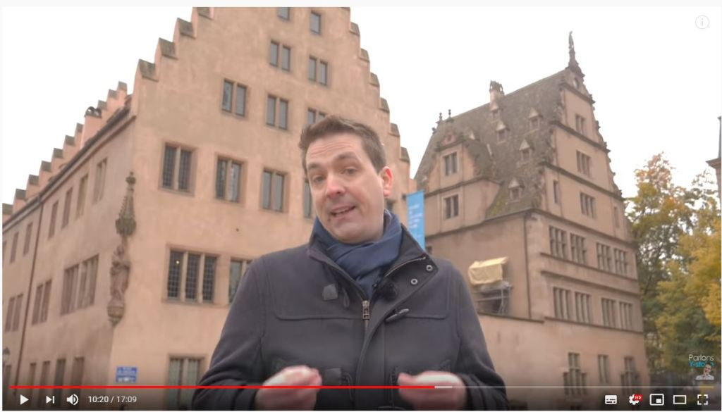 Parlons Y-stoire place du château Strasbourg