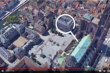 vue du ciel Strasbourg google earth