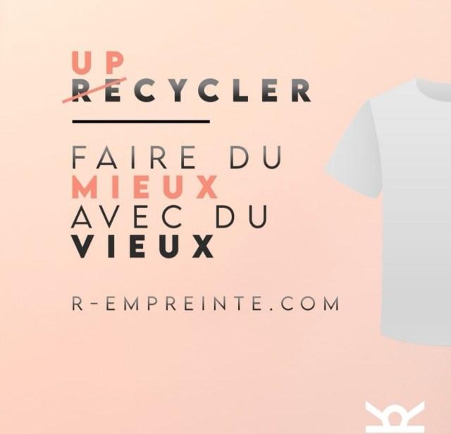 R-Empreinte startup alsacienne upcycling mode t-shirts logo