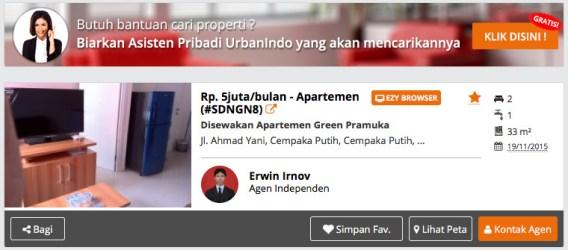 Apartemen dijual disewa di Jakarta Pusat Jakarta