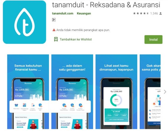 TanamDuit Reksadana Asuransi Aplikasi di Google Play