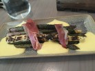 Asparagus with prosciutto and hollandaise