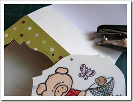 , Kartka a'la shadow card (tent card)