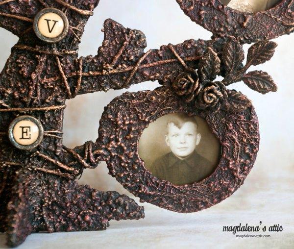 mediowane drzewo, Drzewo genealogiczne – mixed media
