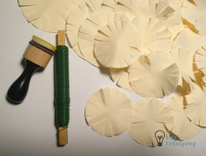 Chryzantemy złociste, Chryzantemy złociste – tutorial