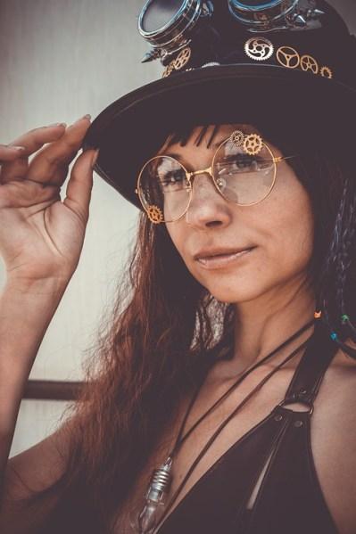 Okulary steampunk.