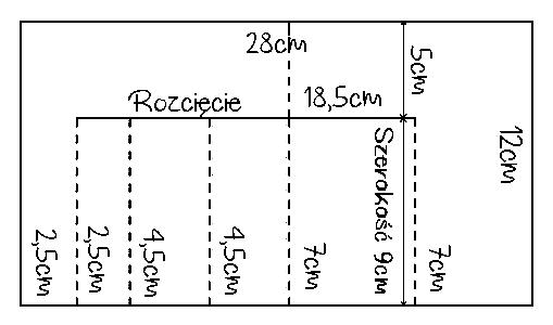 szablon kartka schodkowa