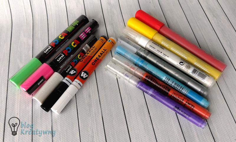 farby akrylowe w markerach
