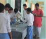 Students of Bidada Kutch, testing the blood group of school mates
