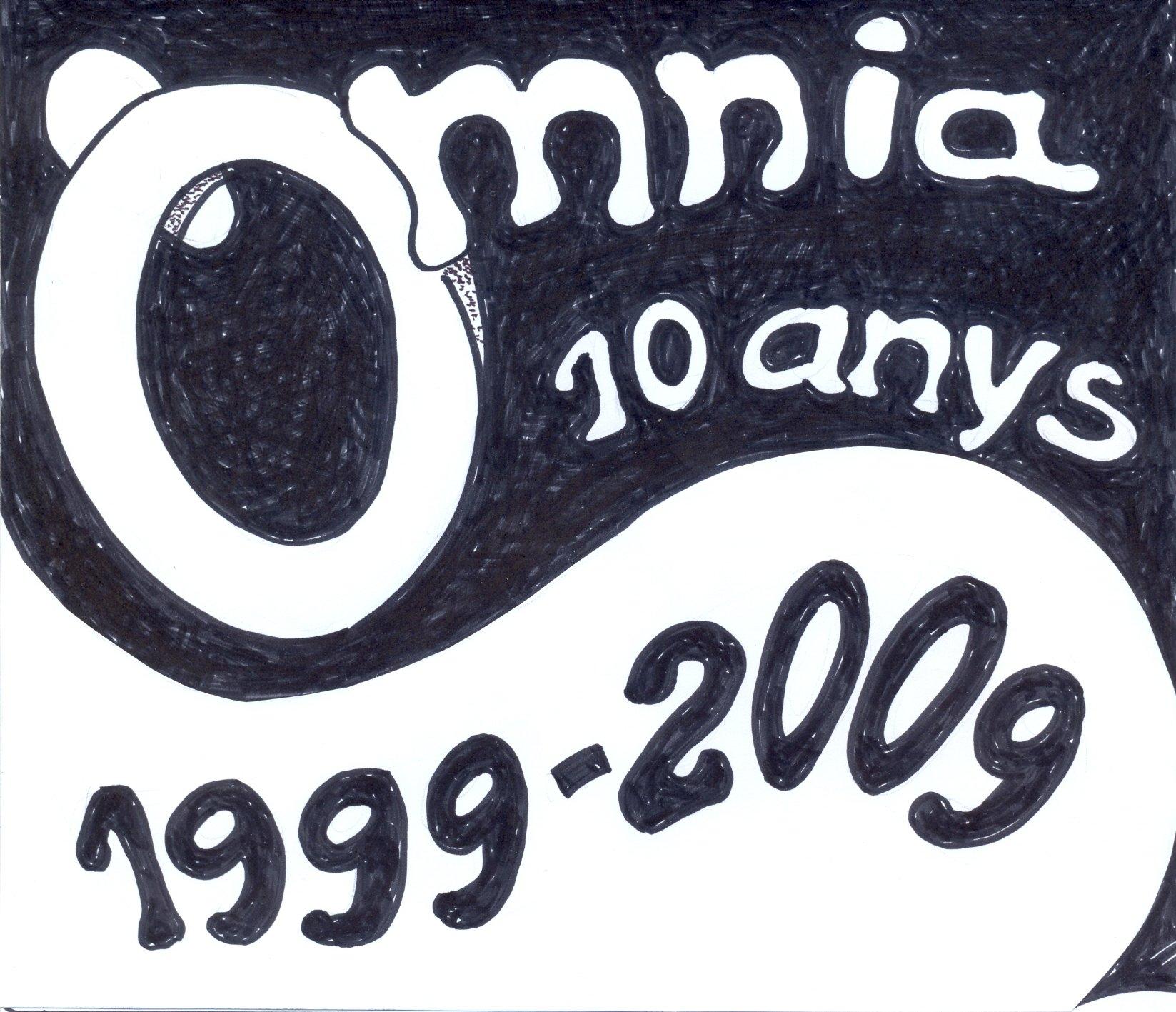 LOGO omnia 10 aniversari