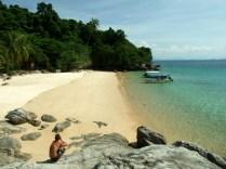 Jakaś plaża na południu wyspy