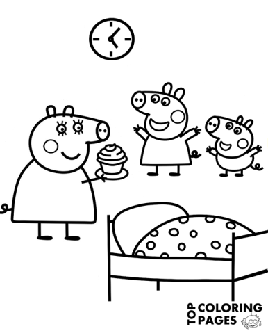 peppa-and-george-coloring-page