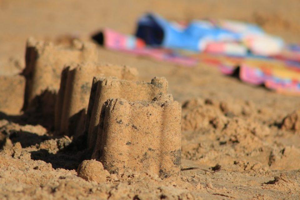 wyobraźnia zamek z piasku