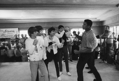 The Beatles - met Cassius Clay February 18 1964 at Miami Beach's 5th Street Gym (1964)