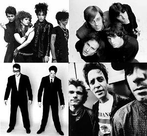 The Cramps, The Doors, They Might Be Giants, Morphine - allemaal geen bas, behalve Morphine die geen gitaar heeft
