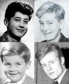 Led Zeppelin: boven Jimmy Page en Robert Plant, onder John Bonham en John Paul Jones.