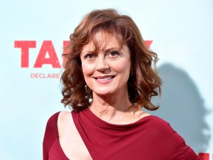 "HOLLYWOOD, CA - JUNE 30:  Actress Susan Sarandon  arrives at the Premiere of Warner Bros. Pictures' ""Tammy"" at TCL Chinese Theatre on June 30, 2014 in Hollywood, California.  (Photo by Frazer Harrison/Getty Images)"