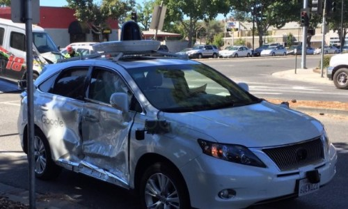 Google Lexus autonomous crash
