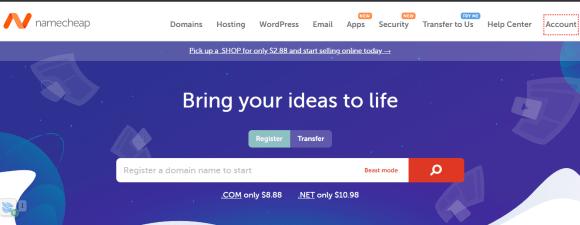 Namecheap hosting services