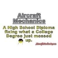 01-aircraft mechanics design - Mechanical Engineering T-Shirt Design