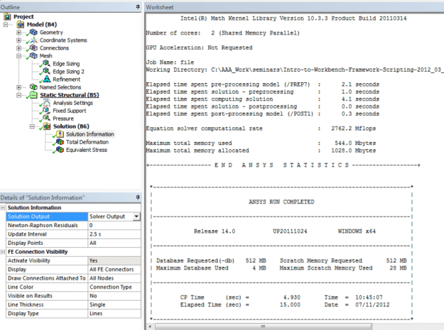 3402f 01 ansys job status tab analysis finite element ANSYS ANSYS Mechanical Workbench