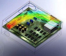 solidworks-flow-electronics-analysis-heat-transfer-analysis-thermal-management-forced-cooling