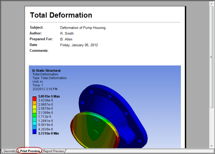 5ec46 01 ansys print preview tab | ANSYS Mechanical Workbench | ANSYS Designspace | FEA Software | Mechanical Engineering Software | ANSYS Mechanical Workbench