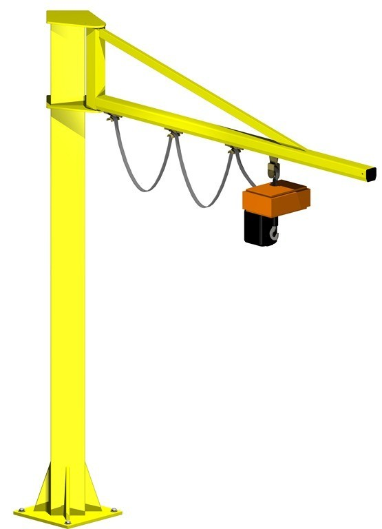 Hoisting machineries, NIKO Jib crane, Floor mounted cantilever beam cranes