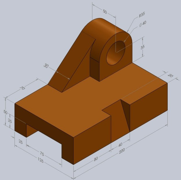 6d012 01 engineering drawing cad drawings 3d cad Pro-Engineer Pro Engineer Exercises