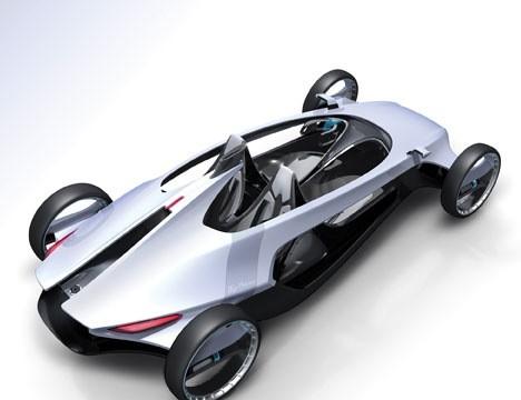 02-Compressed Air Cars, Air Motion Racing Car, Car Powered By Compressed Air, Air Motion Racing Car Powered By Air Turbines, Cav, Cat, Compressed Air Car Technology