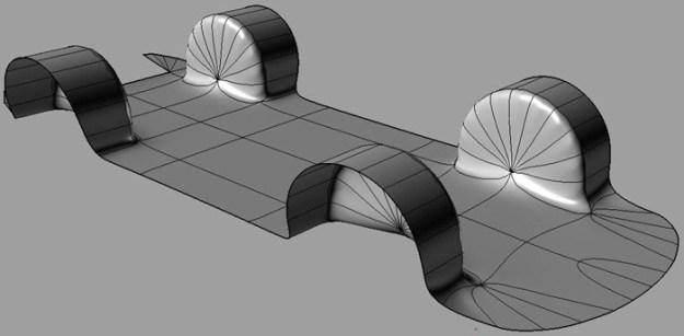Rhino reverse engineering software development, NURBS model, T-Splines mesh, NURBS surface