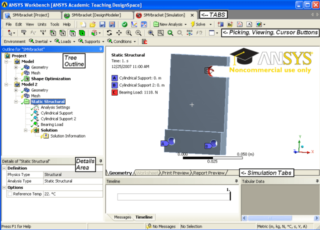 f6d4a 01 ansys geometry tab analysis finite element ANSYS ANSYS Mechanical Workbench