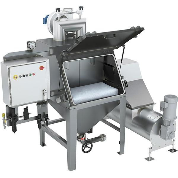 Bag-dump-station-screw-feeder-for-mixer-filling