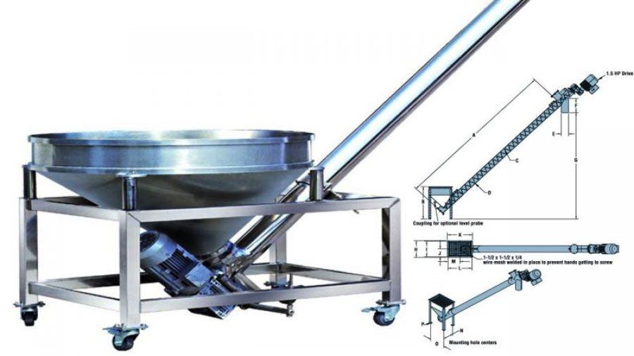 Silo-Discharge-And-Powder-Process-Feeding-Screw-Conveyor