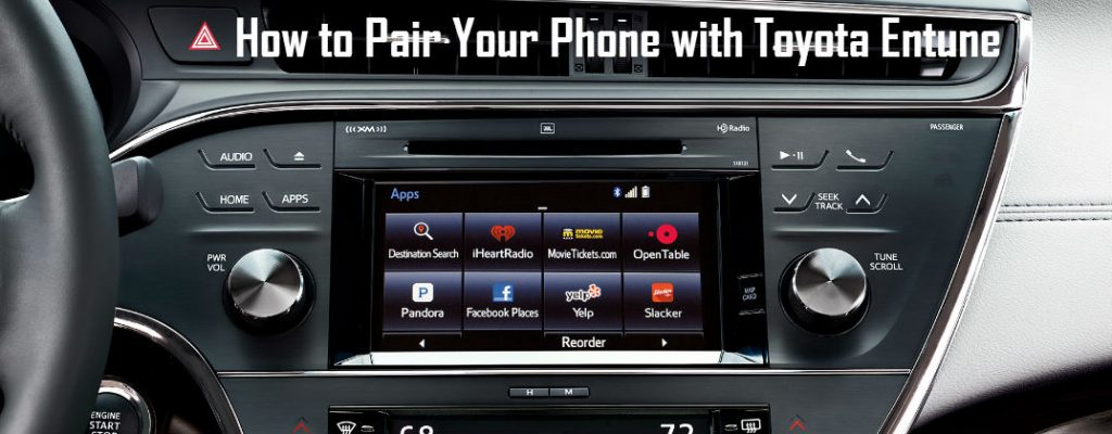 How To Pair Your Phone With Toyota Entune Bluetooth