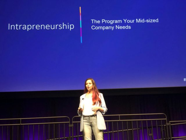 Elizabeth defines 'intrapreneurship' and points to the strength of diverse teams.