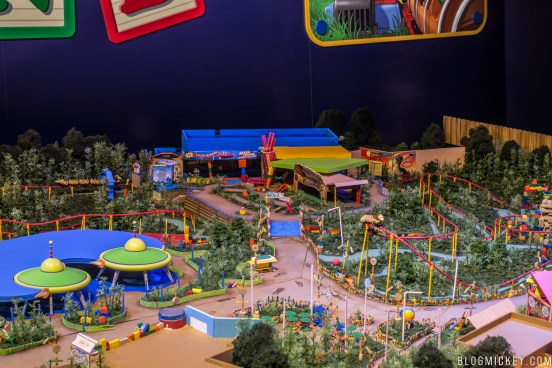 Image result for toy story land model