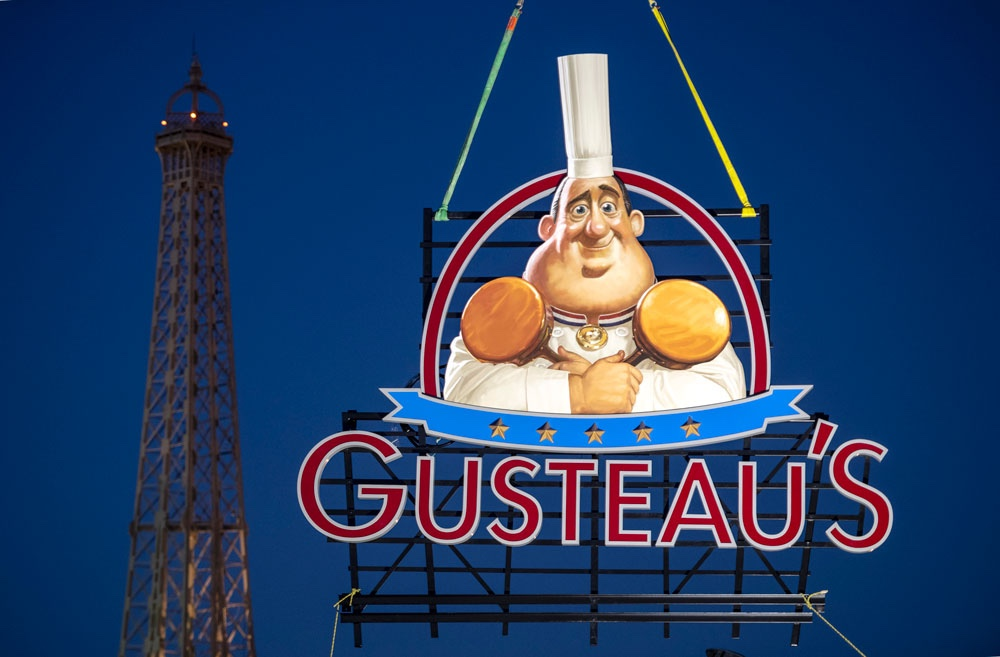 Gusteau's Restaurant Sign Installed in the France Pavilion at Epcot