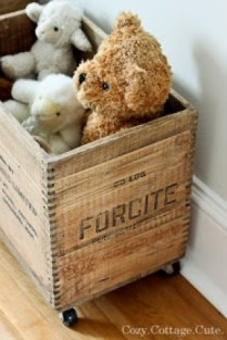 diy-repurposed-antique-wooden-crates-for-storage-added-casters-for-mobility