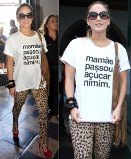 T-Shirt com frases animal print
