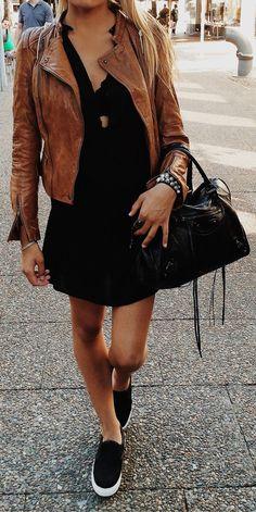 jaqueta de couro marrom tan