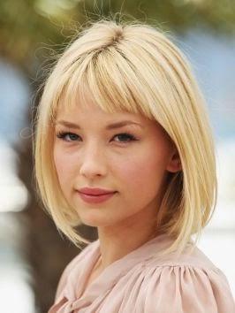 Baby bang ou franja curtinha - blonde hair