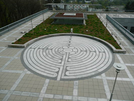 View to the labyrinth